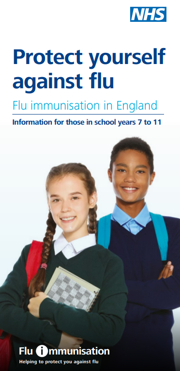 Protect yourself against flu - information for those in school years 7 to 11